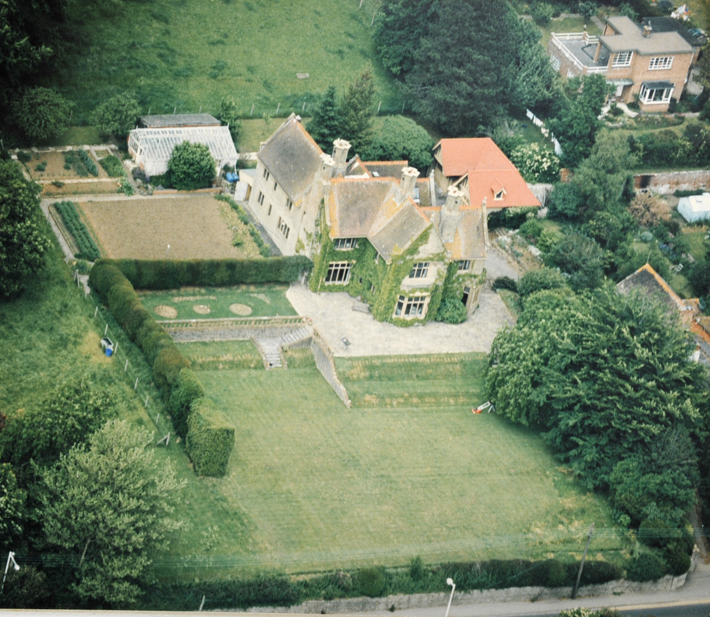 An aerial view of the Gables